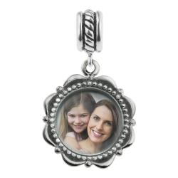 925 Sterling Silver Personalized Photo Dangle Charm Bead for European Charm Bracelets